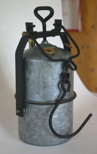 Gut Erhaltene Grubenlampe Karbidlampe