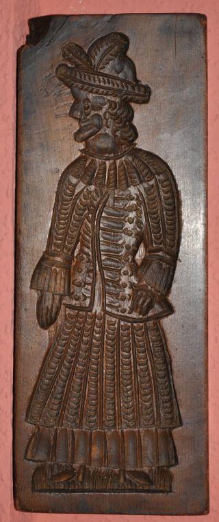 Antike Spekulatius Form Holz Doppelseitig 19 Jh Bild
