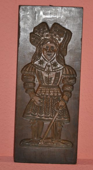 Antike Spekulatius Form Hartholz Doppelseitig 19 Jh Bild