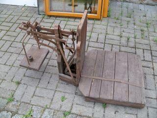 Alte Funktionstüchtige Sackwaage Kartoffelwaage Bauernwage Bild