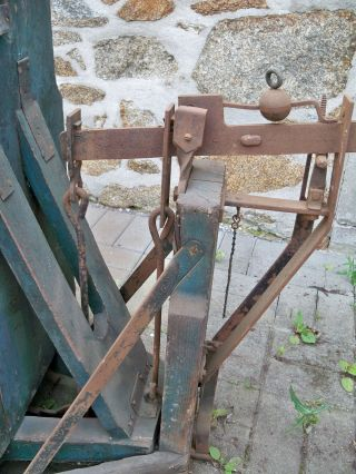 Alte Sackwaage Kartoffelwaage Bauernwage Bild