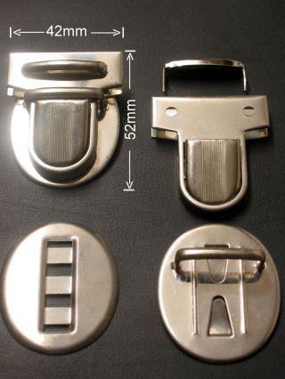 Schnappverschluss Taschenverschluss Leder 8 - Teiliger Verschluss Komplett 1a Bild
