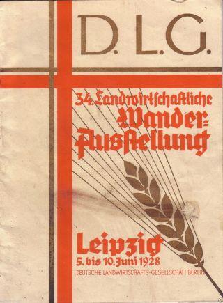 D.  L.  G.  ;34.  Landwirtschaftliche Wanderausstellung Leipzig,  1928 Bild