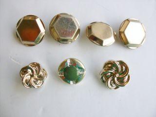 Knöpfe 7 Stück Metall,  2,  5 Und 2 Cm Durchmesser,  Silberfarben Bild