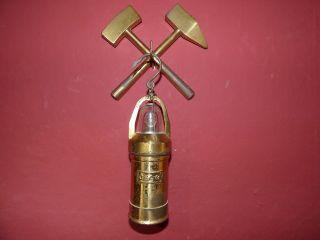 Schöne Ceag Lilliput - Lampe Messing Grubenlampe Miners Lamp Bild