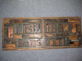 Setzkasten Mit Holzschrift,  Bleischrift Und Kupferlinien,  Antik Und Bild