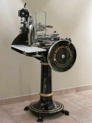 Antique Italian Berkel Mod.  12 With Stand Slicer Aufschnittmaschine Bild