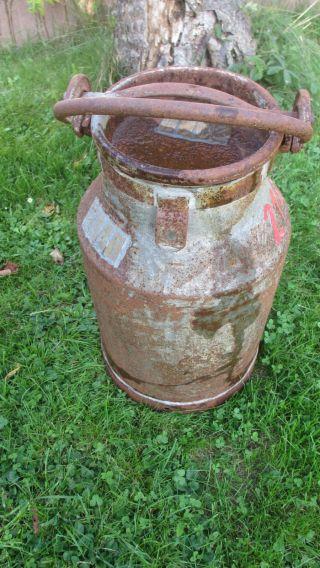 Große,  Antike Milchkanne Stahl Oder Zink? Blumenvase Bild