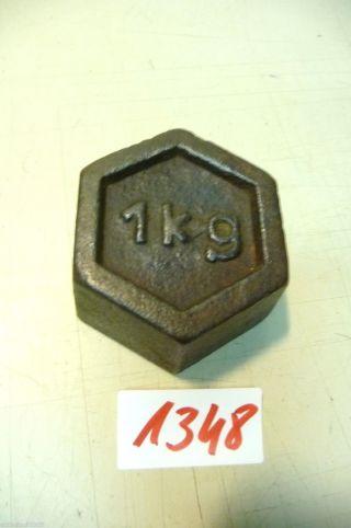 Nr.  1348.  Alte Gewicht 1 Kg Old Weight Bild