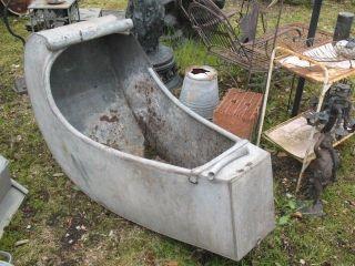 Zinkwanne Badewanne Waschzuber Schaukelwannetrog Zink Alt Bild