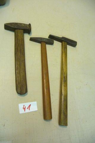 Nr.  41.  3.  Alter Hammer Schmiedehammer Old Hammer Work Tools Bild