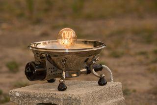 Antik Alt Leuchte Wärme Lampe Strahler Schreib Tisch Sollux Grandiosa Vintage Bild