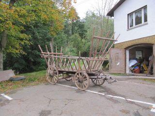 Alter Großer Leiterwagen Heuwagen Holzwagen - Antiker Anhänger - Bild
