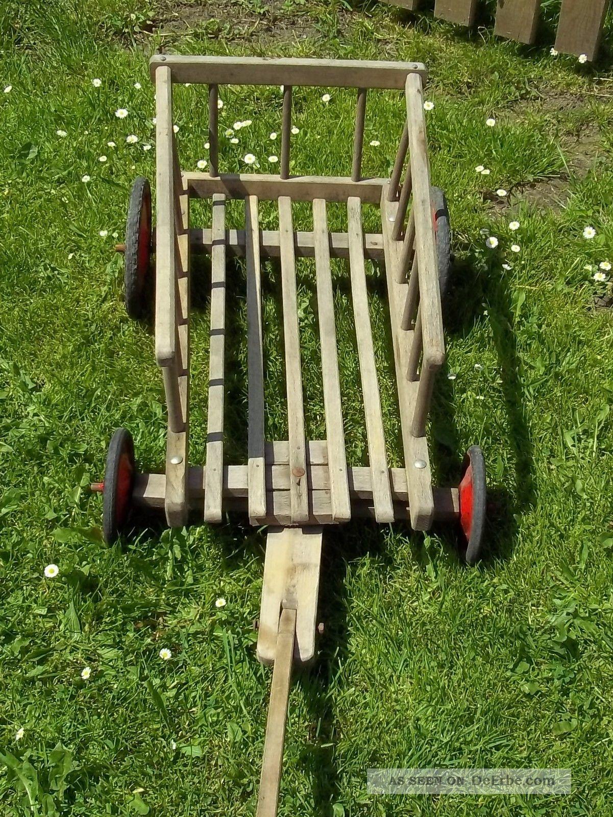 antiker kleiner holz bollerwagen handwagen leiterwagen. Black Bedroom Furniture Sets. Home Design Ideas