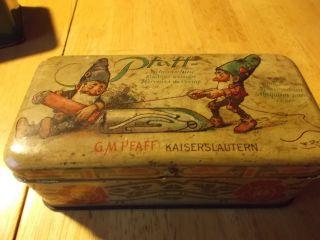 Pfaff Blechdose Jahrhundertwende Nähfüße,  Nadeln,  Schrauben Und Weiteres Zubehör Bild