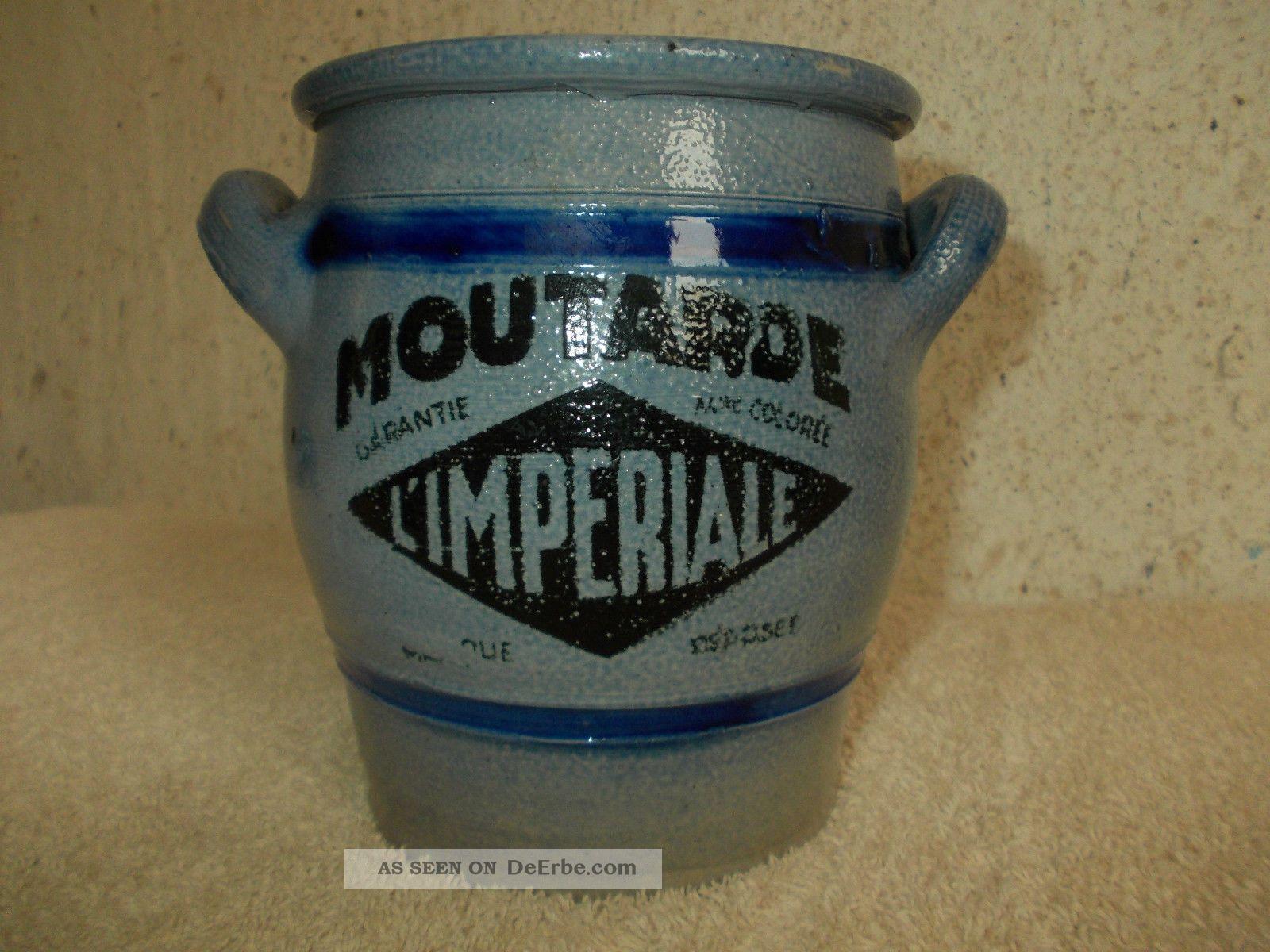 Seltener 1 Liter Moutarde Topf,  Senftopf,  Tontopf,  Französischer Senftopf,  Moutarde Kaufleute & Krämer Bild