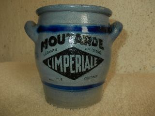 Seltener 1 Liter Moutarde Topf,  Senftopf,  Tontopf,  Französischer Senftopf,  Moutarde Bild