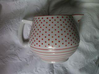 Selten Schöner Alter Porzellan Milchkrug Um 1930 Schnabelkrug Krug Bild