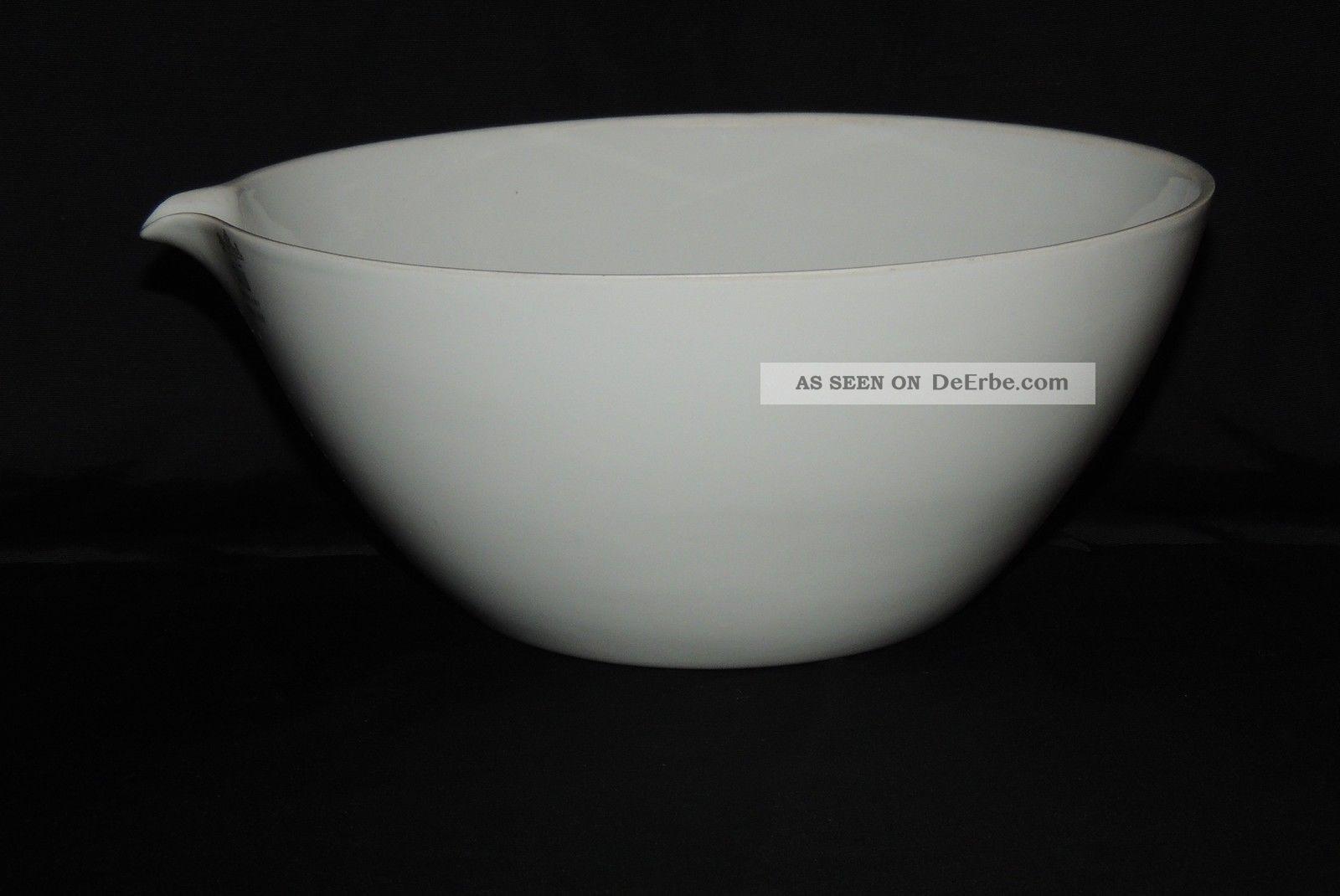 Abdampfschale Nr 4 Porzellanschale mit Ausguß 85 mm Durchmesser