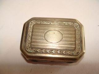 Sehr Alte Silber Dose Mit Rasierklingen Bild