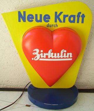 Originaler 40er/50er Jahre Werbeaufsteller Zirkulin Beleuchtet Apotheke,  Arznei. Bild