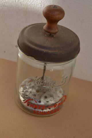 Antiker Sahneschläger Aus Glas,  Ca.  1,  0 Liter Bild