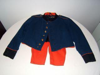 Kinder Uniformjacke,  Uniformrock,  Blaue Uniform,  Rote Aufschlägen,  Spielmannszug Bild