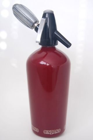 Cinzano Soda Siphon Siphonflasche Sodaflasche Syphon,  Vintage,  Heimsyphon,  60er Bild