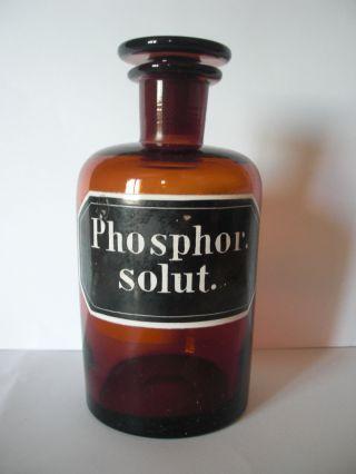 Phosphor,  Apothekerflasche,  Apothekergefäß Bild