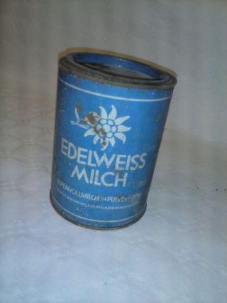 Blechdose Alt Edelweiss Milch Bild