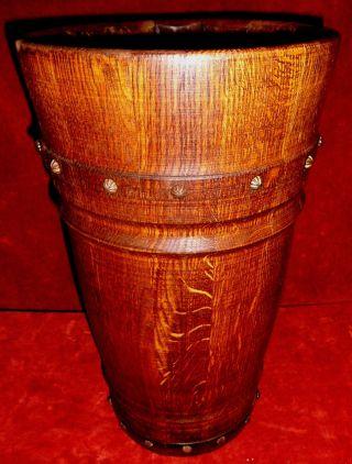 Antiker Schirmständer Bodenvase Nussbaum Echtholz Massiv Konische Form Um 1890 Bild