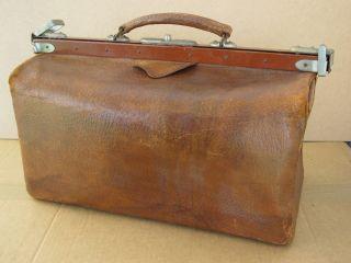 Hebammentasche Arzttasche Arztkoffer Doktortasche Ledertasche Alt Vintage Leder Bild