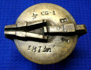 Antikes Becher - Topfgewicht Mit 7 Punzen Bild