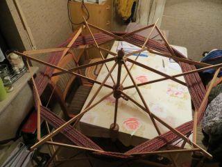 Sehr Große Schirm Haspel,  Spinnrad,  Stufenlos Verstellbar Bis Zu 3 M Stranggröße Bild