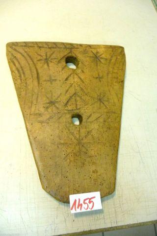 Nr.  1455.  Altes Schinkenbrett Holzbrett Schneidebrett Old Wooden Bread Board Bild