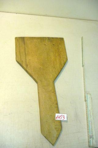 Nr.  1453.  Altes Schinkenbrett Holzbrett Schneidebrett Old Wooden Bread Board Bild