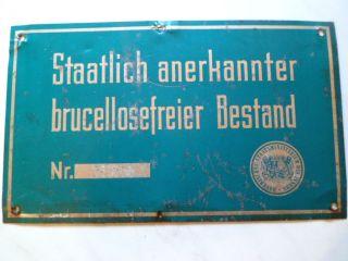 Altes Blechschild Aus Der Landwirtschaft; Aluminium; 25cm X 15cm; Sehr Selten Bild