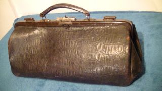 Alte Doktor Arzt Tasche,  Leder,  Antik Bild