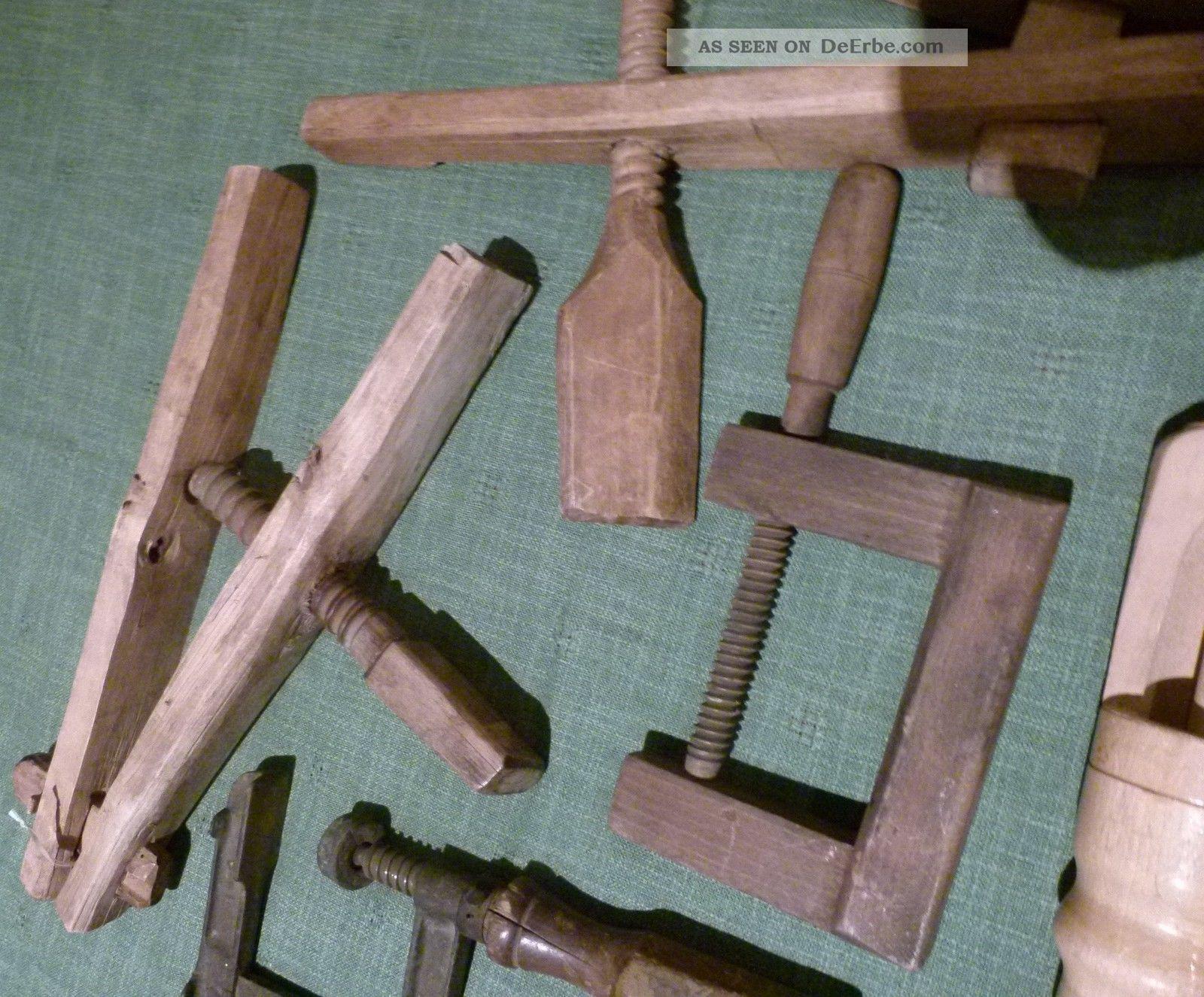 alt 7 st holz werkzeug presse holzpresse schraubzwinge holzzwinge holzverkorker. Black Bedroom Furniture Sets. Home Design Ideas