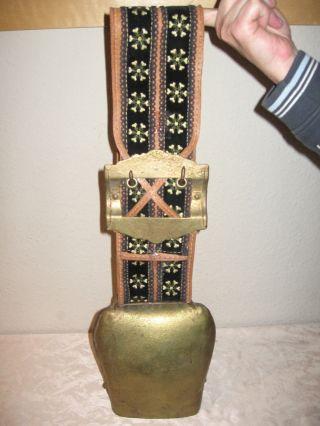 Ungetragene Xxl Kuhglocke Kuhschelle Almschelle Trychel Flachmaulschelle 2,  5kg Bild