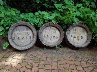 3 Alte Fassdeckel Aus Holz,  Deko,  Von Bierfässern,  Brauerei Meyer Bild