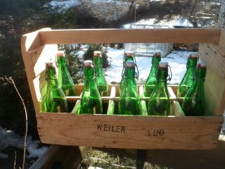 Bierkiste Holz Mit Flaschen Weizenbrauerei Adolf Wiedemann Weiler Allgäu Bild