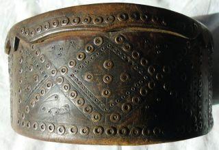 Alter Schöner Reich Verzierter Zunftgürtel Ledergürtel Trachtengürtel Selten Bild