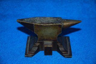 Antiker Kleiner Bronze Amboss Bild