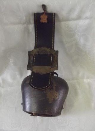 Kuhglocke Almglocke Glocke Zugschelle Kuhschelle Schöner Klang Echtes Rindsleder Bild