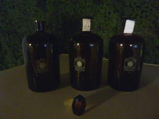 3 Apothekenflaschen,  Glasstopfen Bild