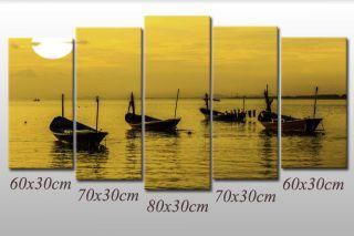 Leinwandbild See Ozean Meer Boots Hafen Abstrakt Bilder Strand Boot Bild