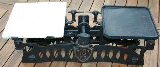 Alte Waage Marktwaage KrÄmerwaage Gusseisen 10 Kg Kilogramm WiegevermÖgen Bild