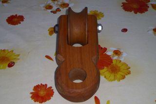 Umlenkrolle Aus Holz Seilzug Seilrolle Lotter Flaschenzug Bild