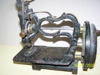 Nostalgie Nähmaschine Mit Handkurbel Bild